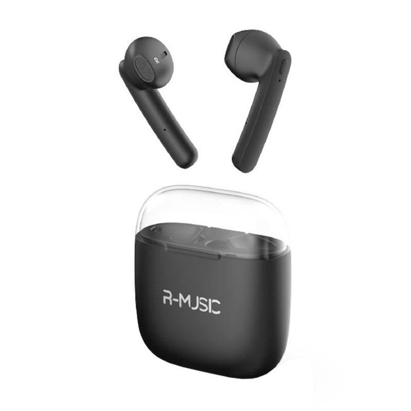 Ecouteurs Bluetooth R-MUSIC RM482532 noir TWS (photo)