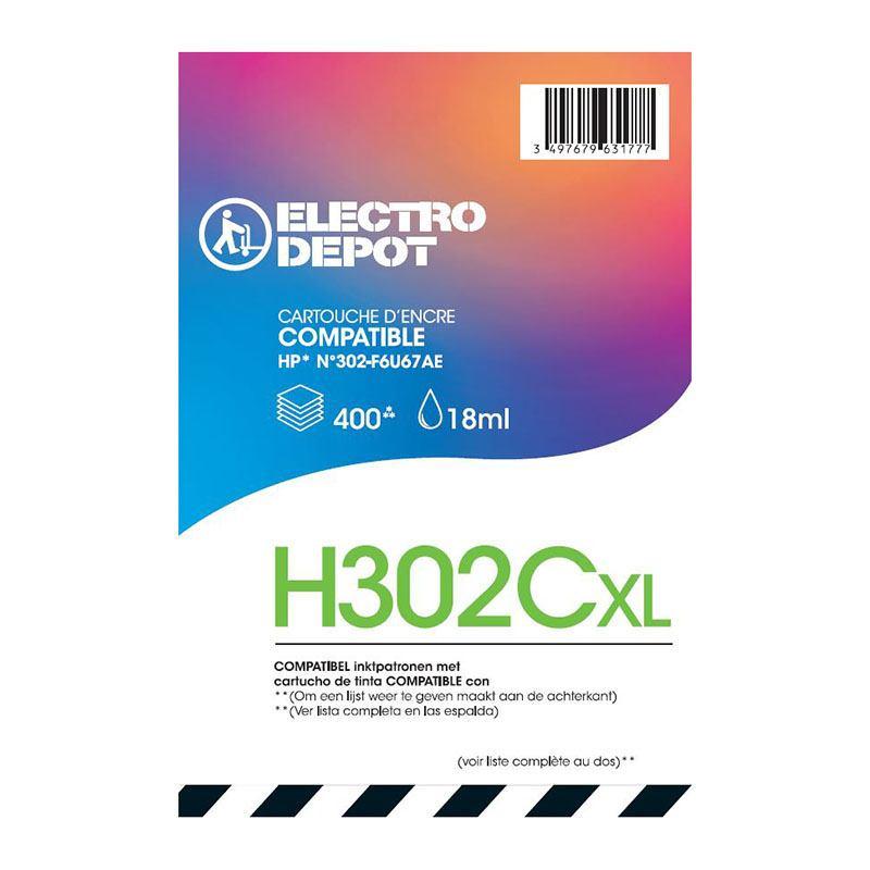 Cartouche ELECTRO DÉPÔT H302 CL XL (photo)
