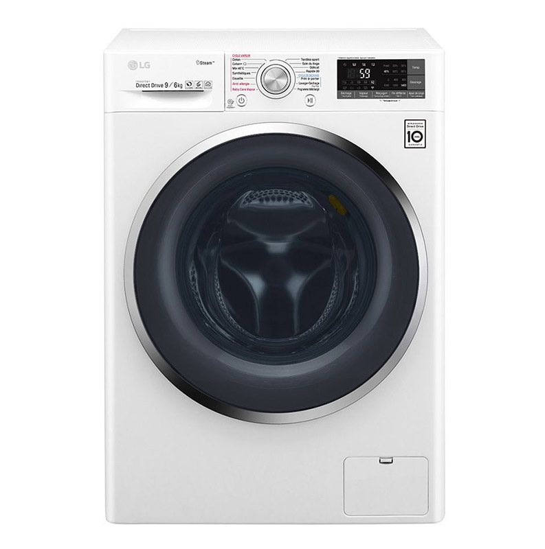 Lave-linge hublot 9 kg LG F964J72WRH (9/6 steam hybrid) (photo)
