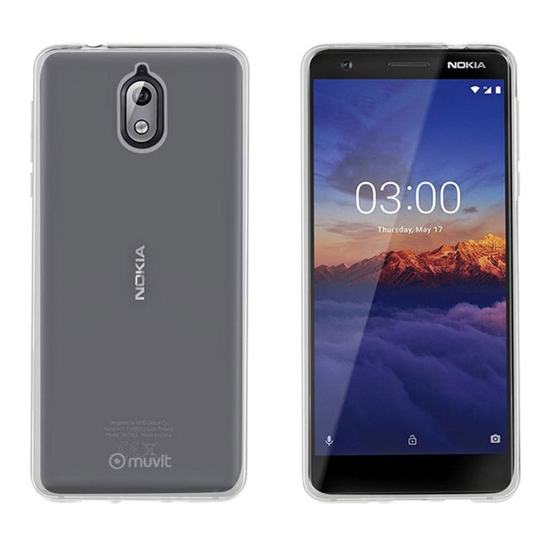 Coque MUVIT Crystal Nokia 3.1 transparente (photo)