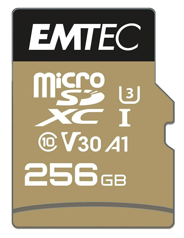 Carte Micro SD EMTEC 256 Go U3 SpeedIN (photo)