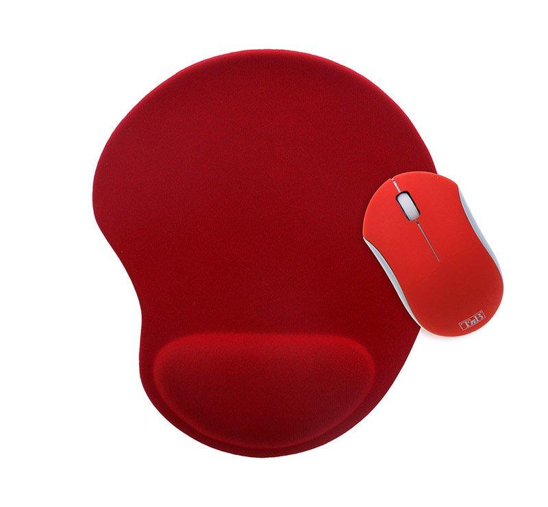Souris TNB Rubby + Tapis ergo rouge (photo)