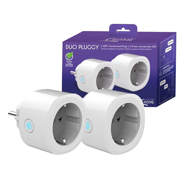 Pack de deux prises connectees Wifi LOGICOM Pluggy (photo)
