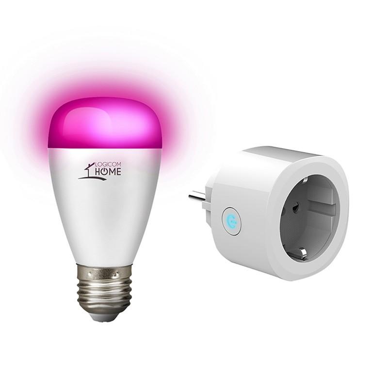 Prise Wifi LOGICOM Pack Prise + Ampoule (photo)
