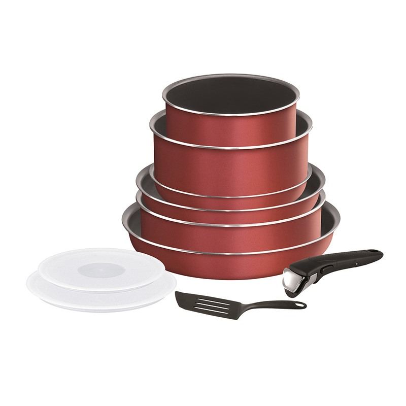 Set Tefal Ingenio Essential 10 Pièces Red
