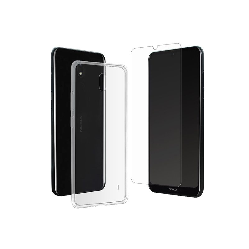 Coque MUVIT +VERRE TREMPE pour smartphone NOKIA 2.2 (photo)