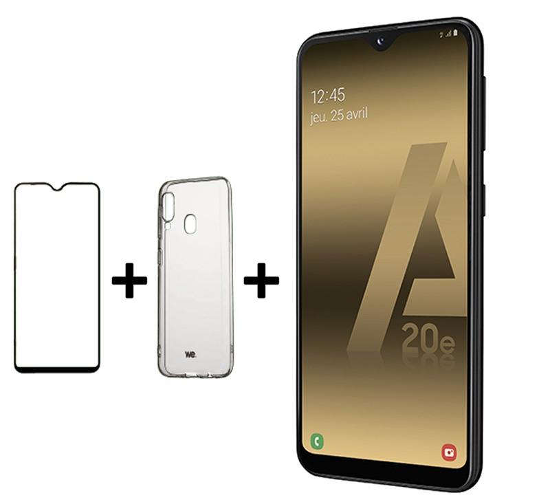 SMARTPHONE SAMSUNG A20e 32 Go Noir + Coque et verre trempe (photo)