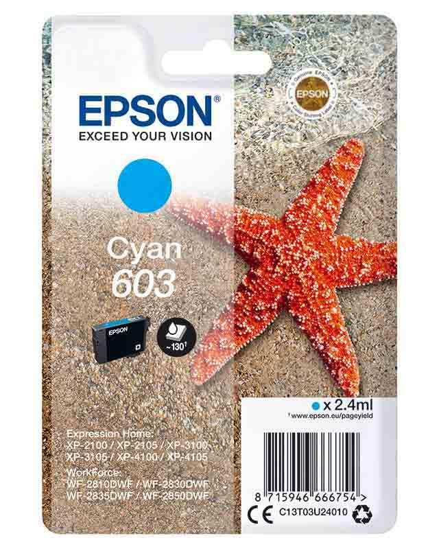 Cartouche EPSON T603 Etoile de mer Cyan (photo)