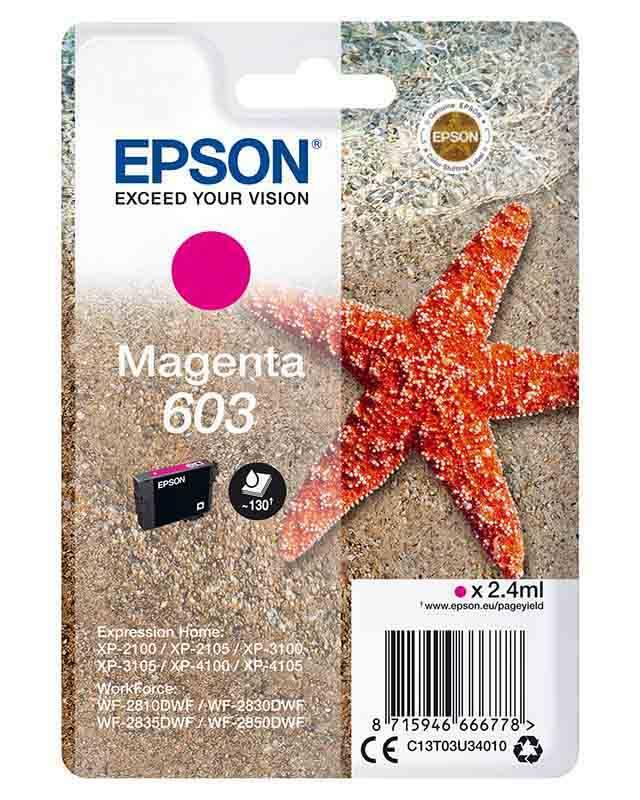 Cartouche EPSON T603 Etoile de mer Magenta (photo)