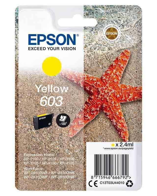 Cartouche EPSON T603 Etoile de mer Jaune (photo)