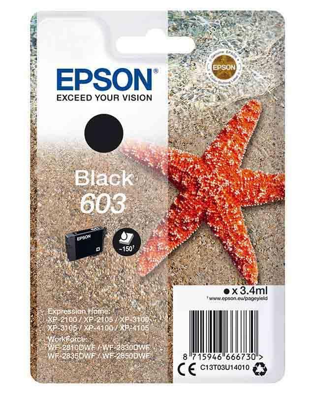 Cartouche EPSON T603 Etoile de mer Noir (photo)