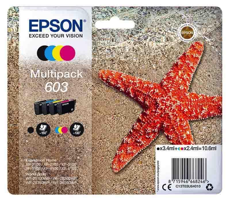 Multipack Epson T603 Etoile De Mer 4 Couleurs (photo)