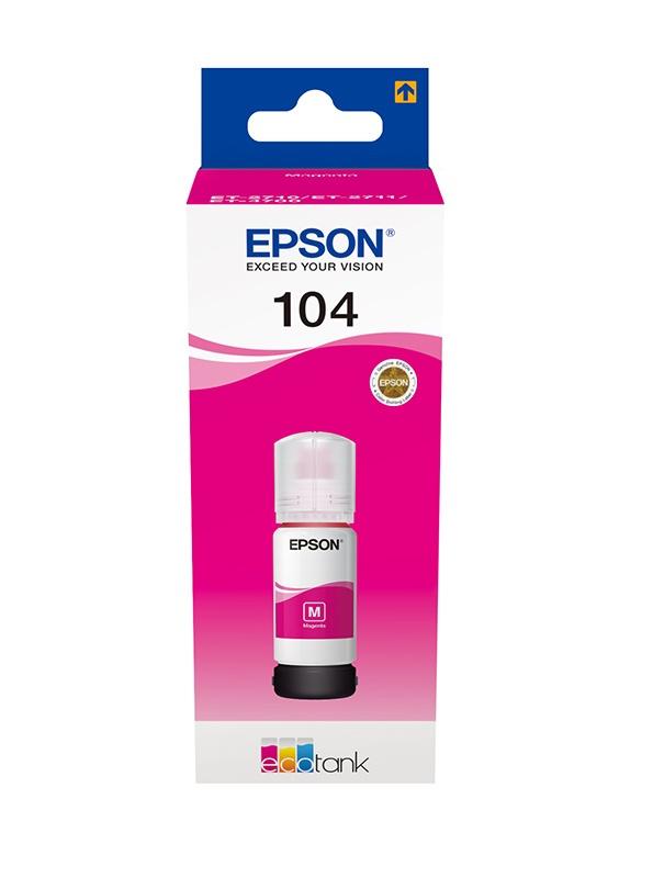 Encre EPSON T104 Ecotank Magenta (photo)