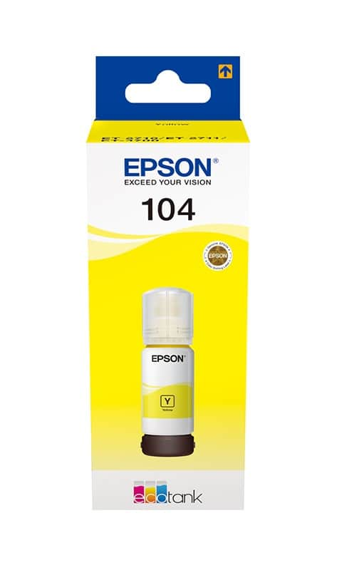 Encre EPSON T104 Ecotank Jaune (photo)