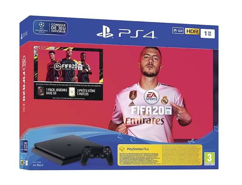 Console Jeux SONY PS4 SLIM 1To + FIFA 20 (photo)