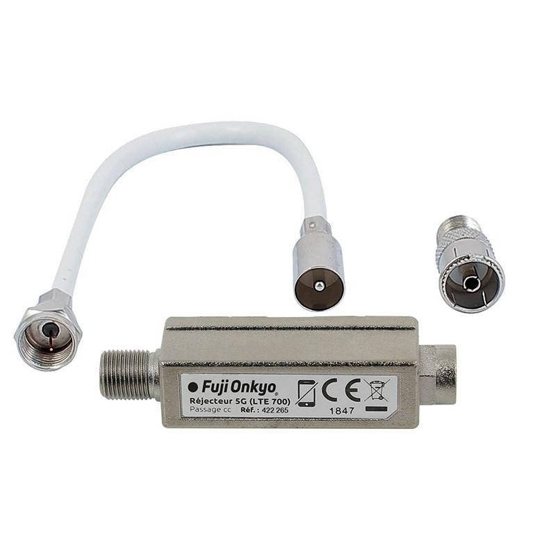 Connectique Fujionkyo Kit Filtre 5g + Cable + Adaptateur