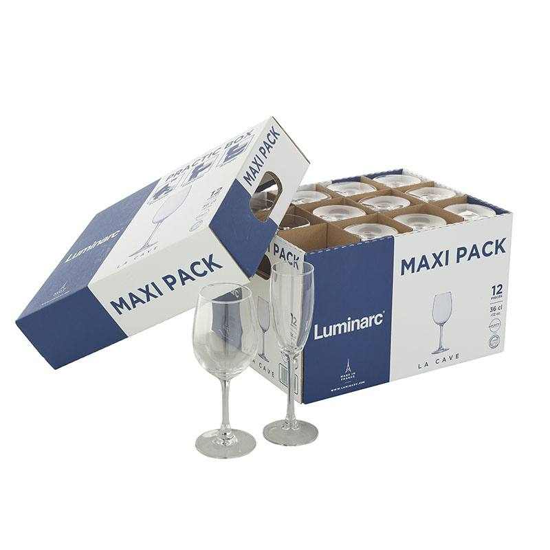 maxi pack FLUTES à champagne LUMINARC 16cl x12 (photo)