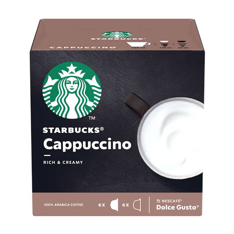 Capsules STARBUCKS® by NESCAFE® Dolce Gusto® Cappuccino x 12