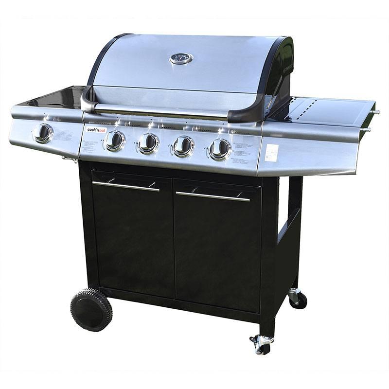 Barbecue Gaz 4 Brûleurs + Plancha + Housse