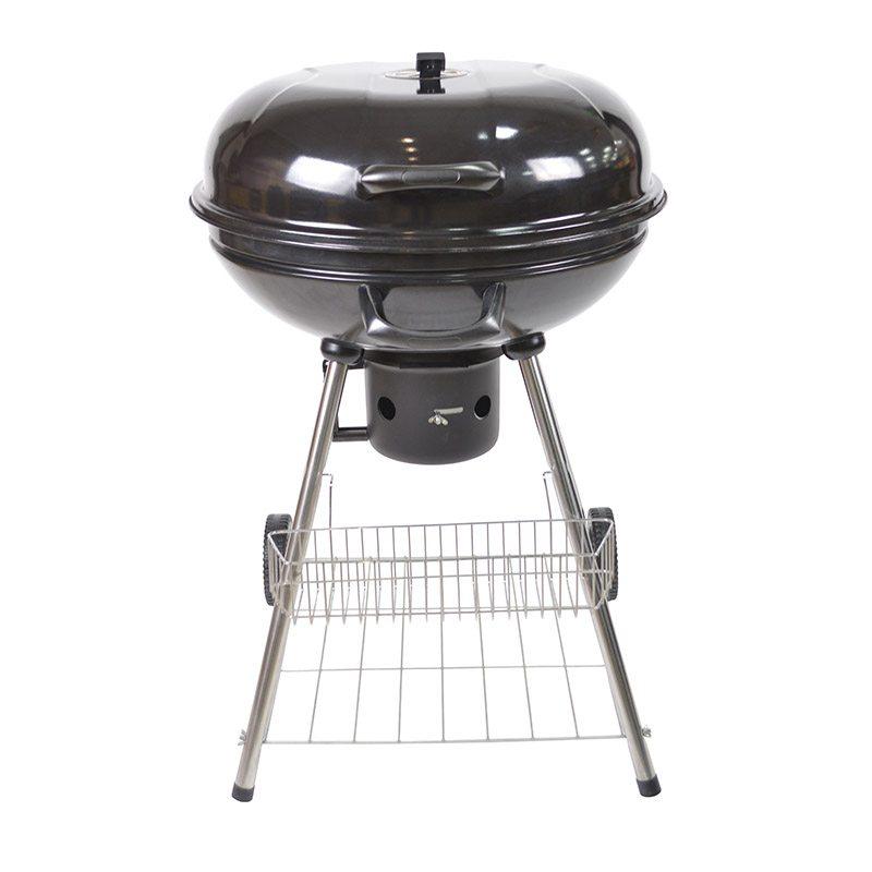 Barbecue Charbon Cosylife Cl-57 Rond 57cm Avec Roulettes