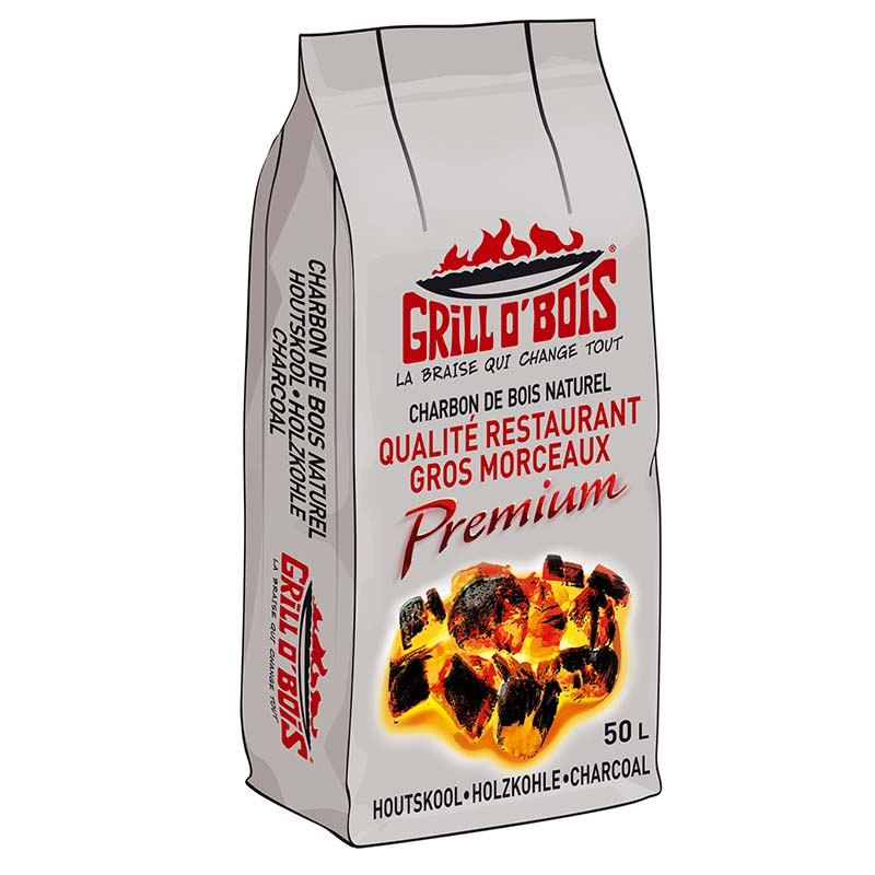 Sac charbon GRILL O BOIS 50 LITRES PREMIUM qualite (photo)