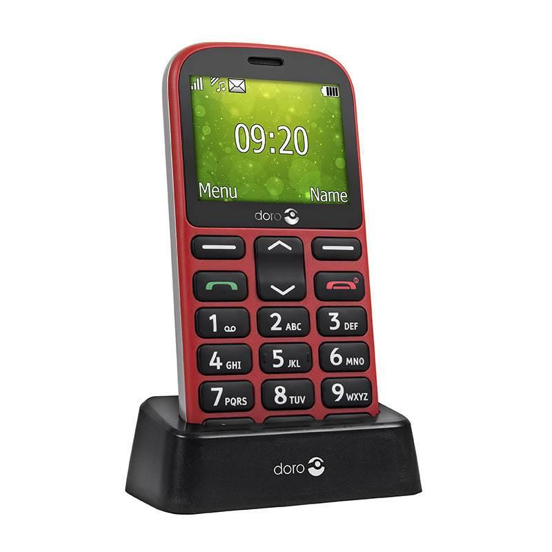 Mobile SENIOR DORO 1350 rouge (photo)