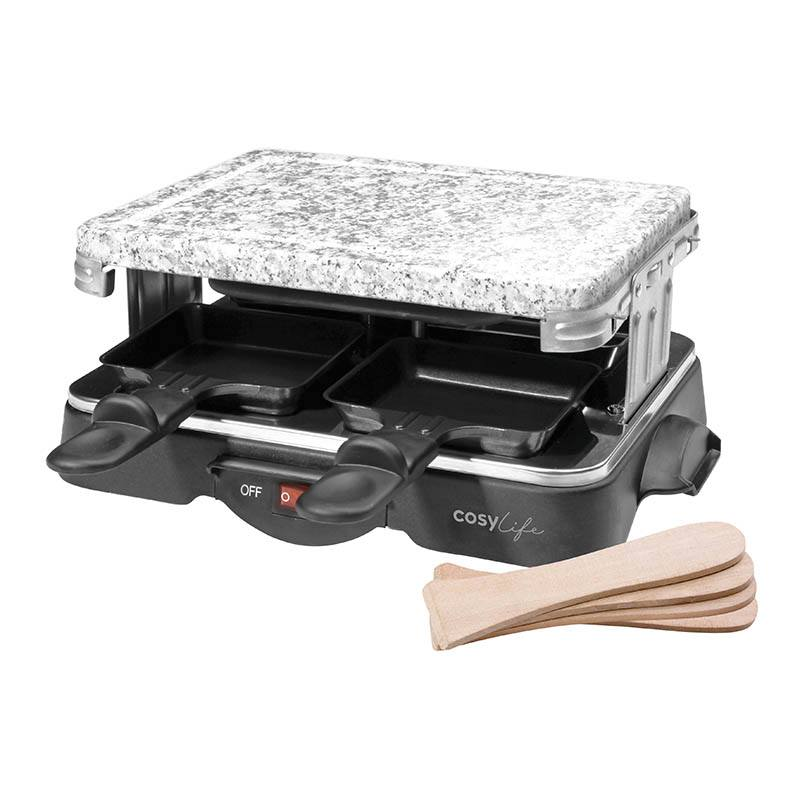 Raclette multifonctions COSYLIFE 4 personnes + pierre CL-R4P (photo)