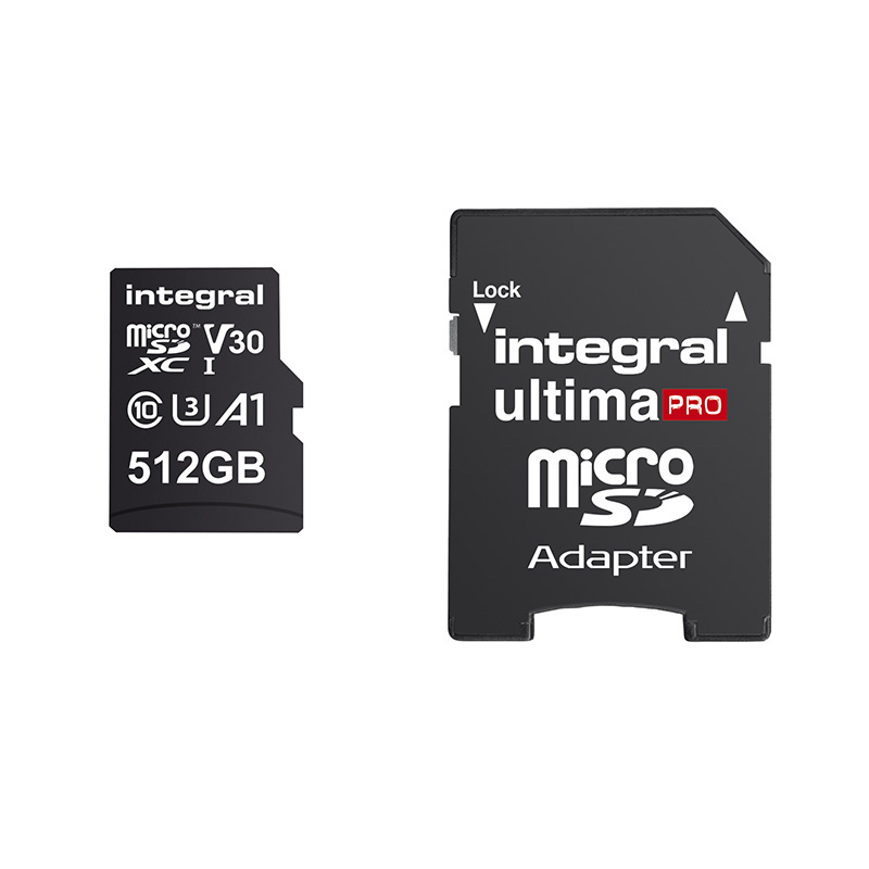 Carte Micro-SD 512 go INTEGRAL C10 V30 100 (photo)
