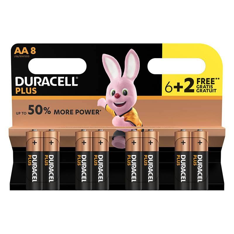 Piles DURACELL 6+2 power Plus AA- LR6 (photo)