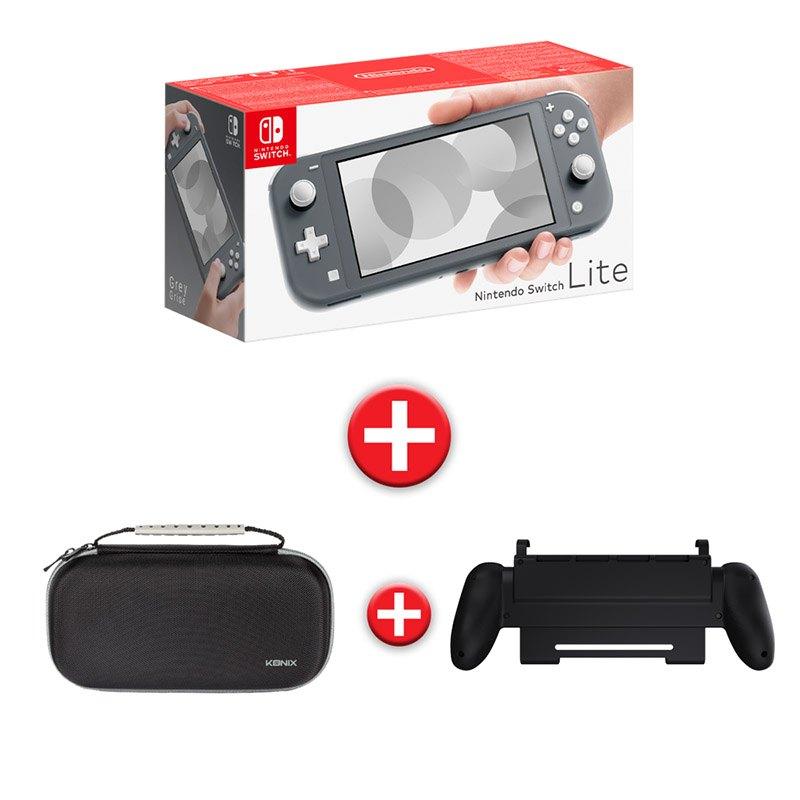 Console de jeux NINTENDO switch lite grise + housse premium + grip (photo)