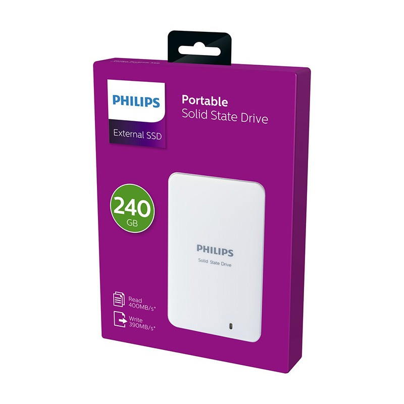 Disque dur externe SSD 2,5 PHILIPS 240Go (photo)