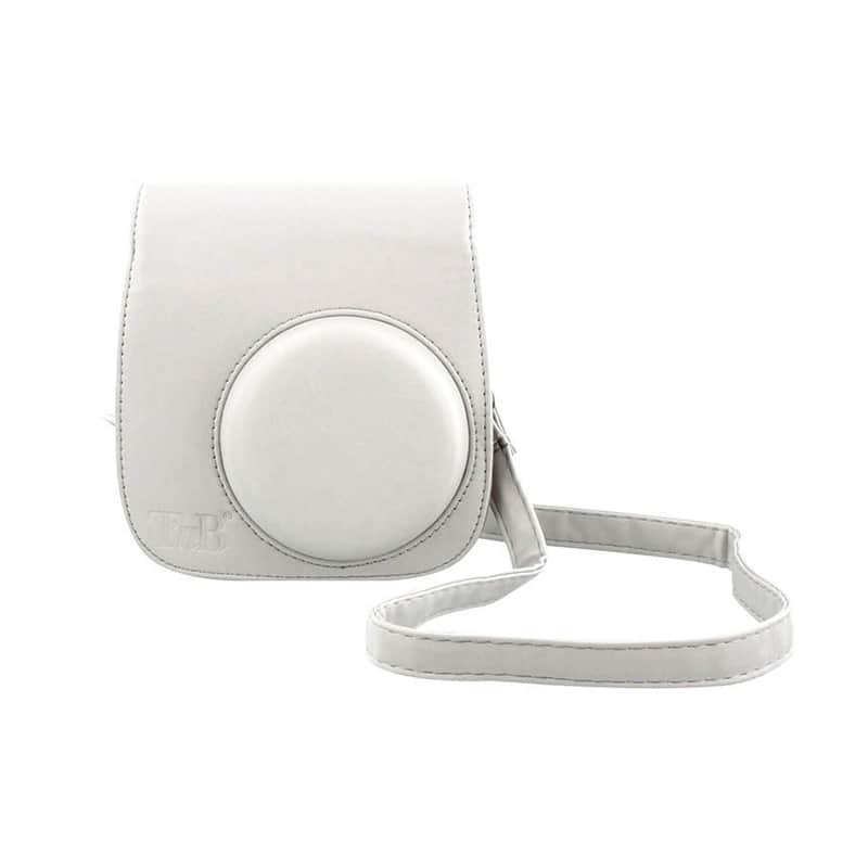 Etui Tnb Lensy Instax Mini 8-9 Blanc Cendré (photo)