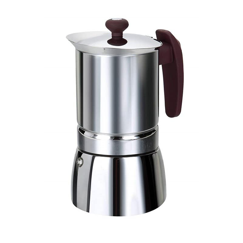 Cafetière italienne inox 10 tasses tous feux dont induction (photo)