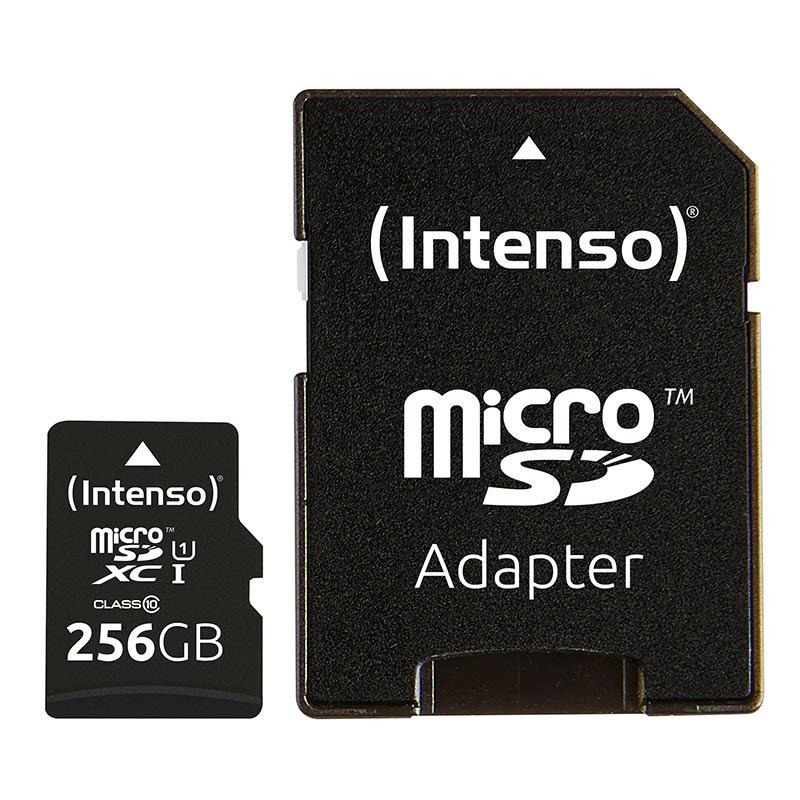 Carte Micro Sd Intenso 256go Uhs-i