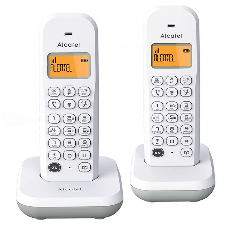 Telephone duo fixe avec repondeur ALCATEL E 195 VOICE duo blanc (photo)