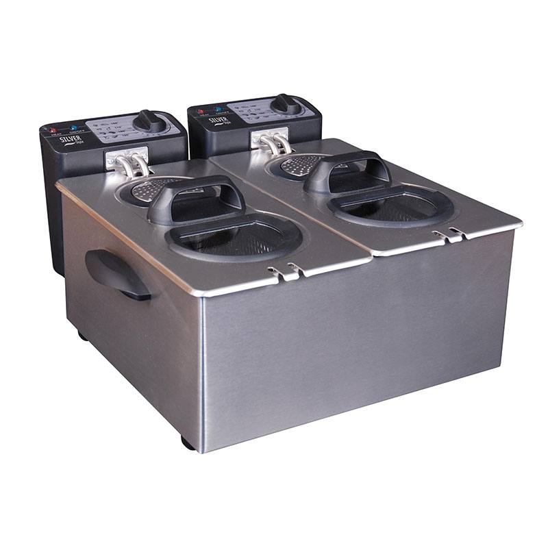 Friteuse SILVER STYLE INOX 2x3.5L