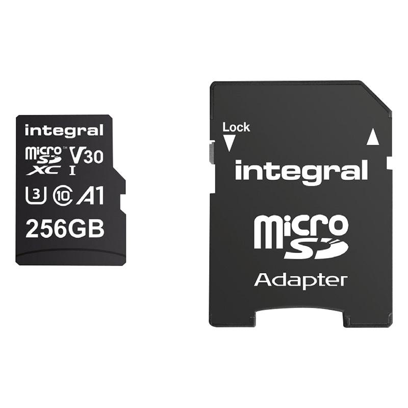 Carte Micro SD INTEGRAL 256Go Class 10 UHS-I (photo)