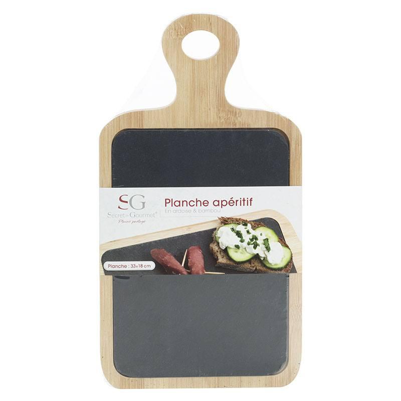 Planche aperitif ardoise & bambou (photo)