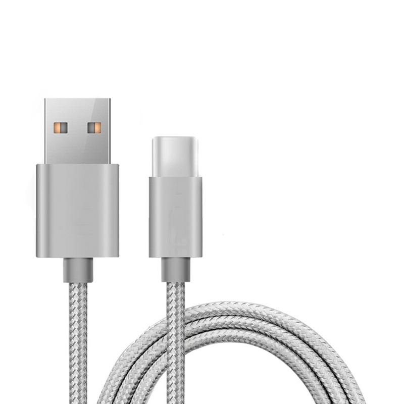 CÂble Synchro/charge Micro Usb Edenwood 1,5m Gris Tresse (photo)