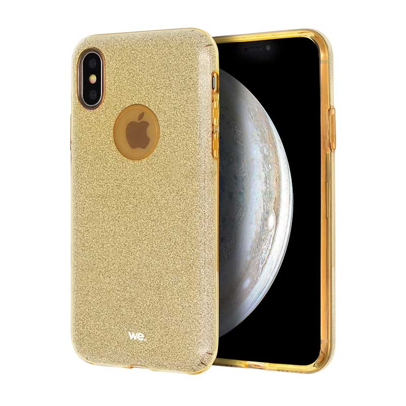 Coque We Iphone Xr Paillette Or (photo)