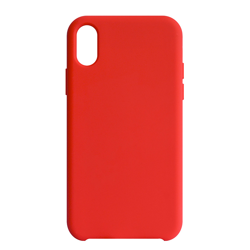 Coque We Iphone X Rigide Rouge Effet Doux (photo)