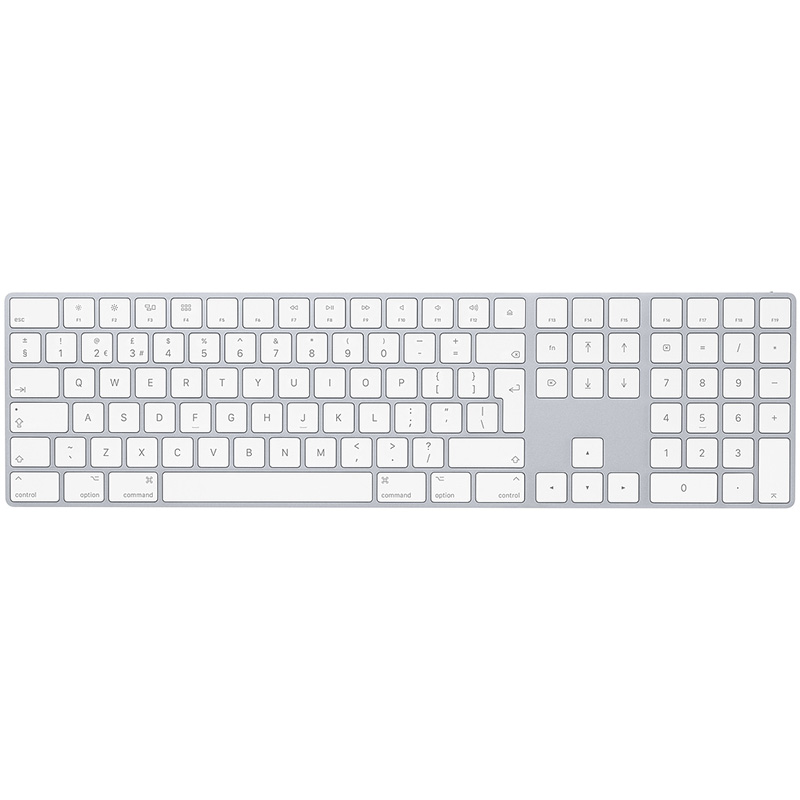 Clavier Apple Magic Keyboard avec pave numerique Argent reconditionne grade A (photo)