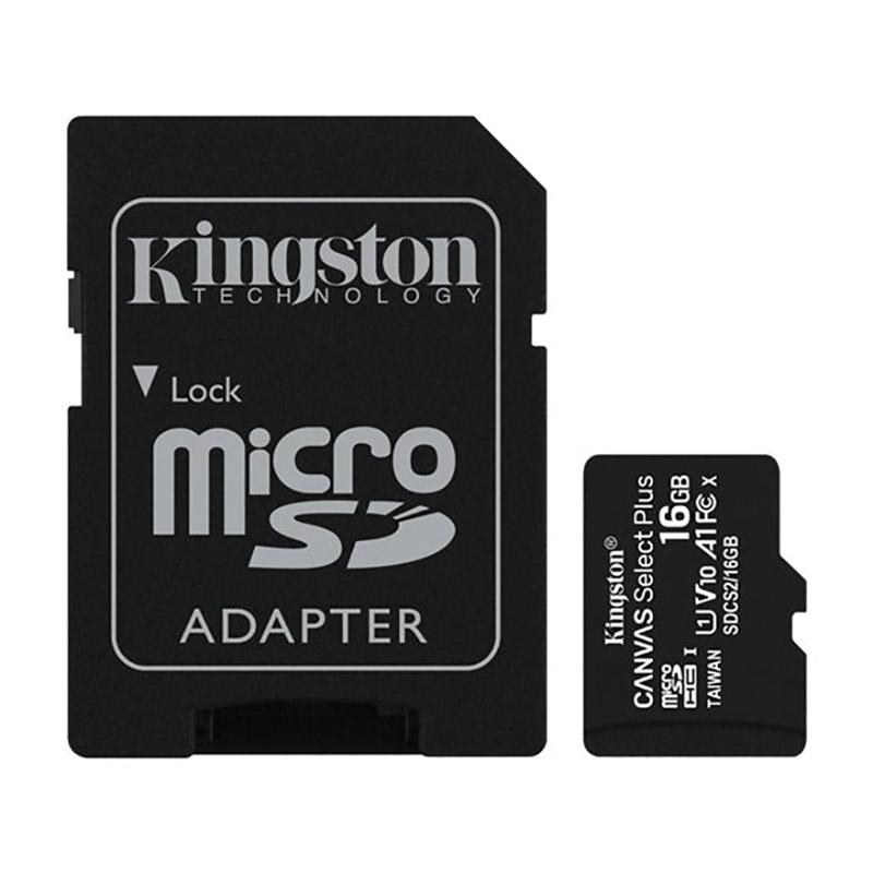 Carte Micro Sd Kingston 16go + Adaptateur (photo)