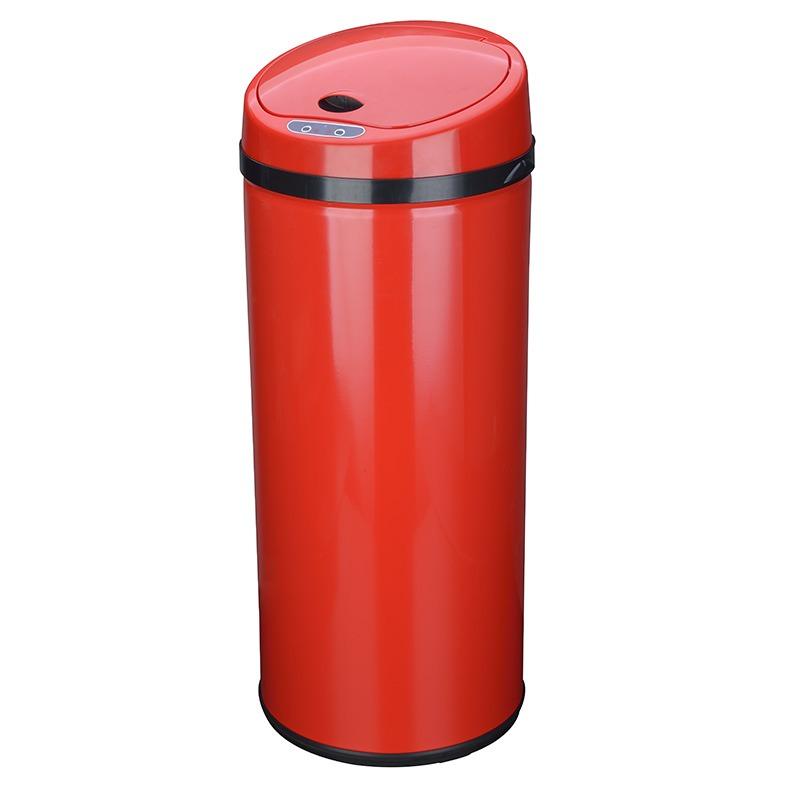 Poubelle 42l Ouverture Automatique Rouge