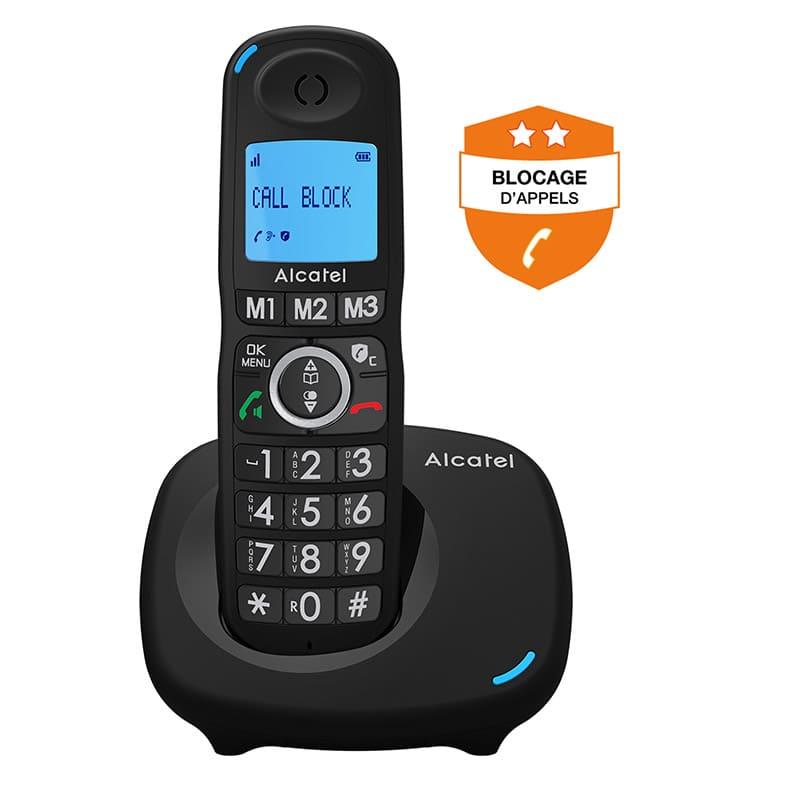 Téléphone Fixe Alcatel Solo Noir Xl535 (photo)