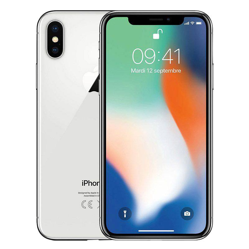 Apple Iphone X 64 Go Silver Reconditionne Grade A+