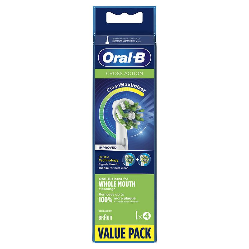 Brossettes ORAL-B CROSS ACTION X4 CLEAN MAX (photo)