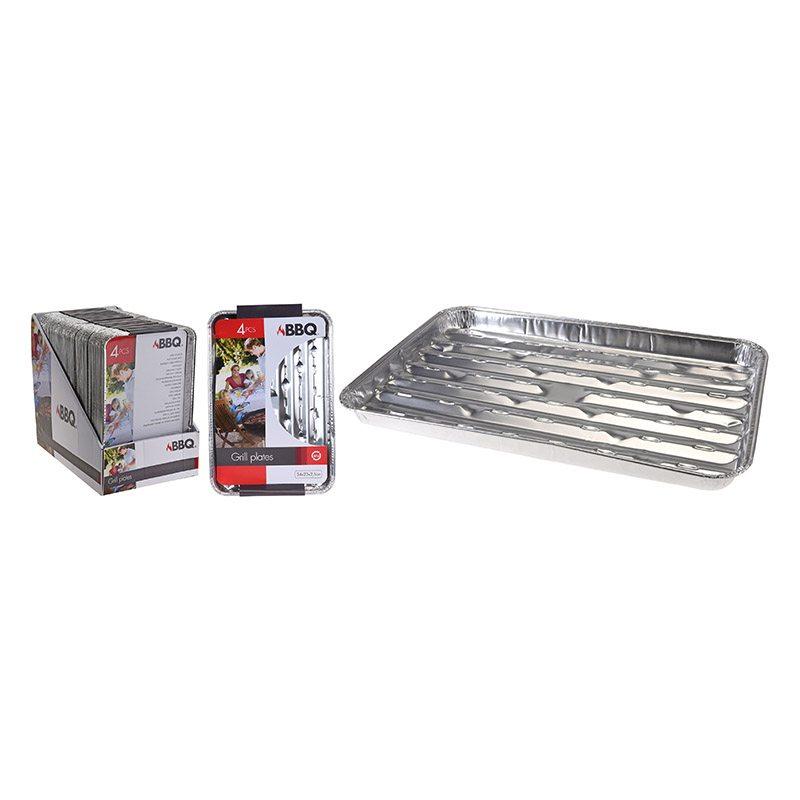Barquettes Aluminium X 4 Pièces (photo)