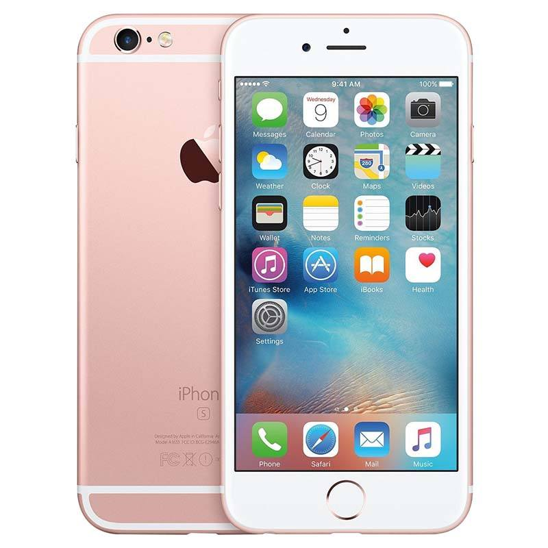 APPLE iPhone 6s 16GO PINK GOLD reconditionne grade ECO + Coque & Verre trempe (photo)