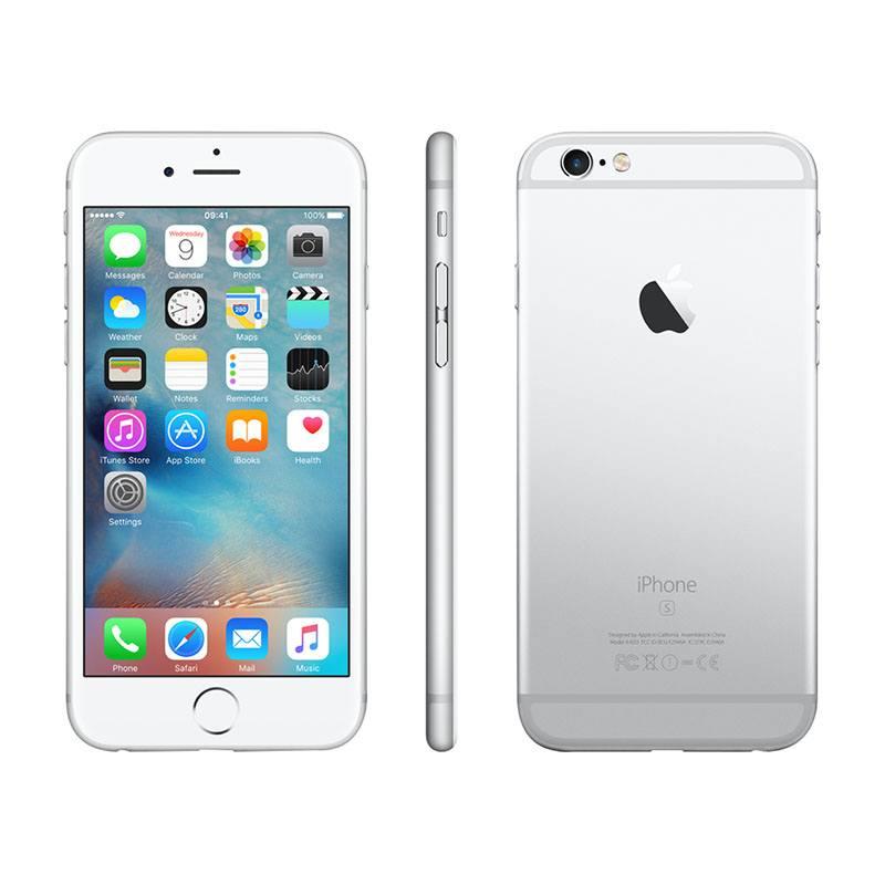 APPLE iPhone 6s 16GO SILVER reconditionne grade ECO + Coque & Verre trempe (photo)